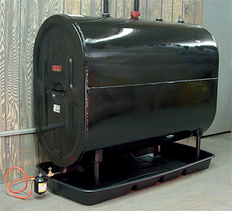 A closer look at a home heating oil tank